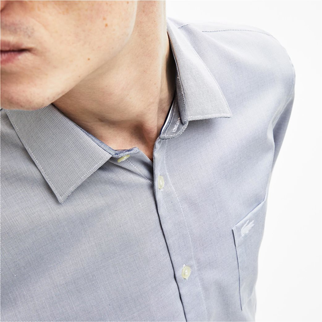 0406c2a6e20e Lacoste ανδρικό πουκάμισο Texturized Poplin Regular Fit 4