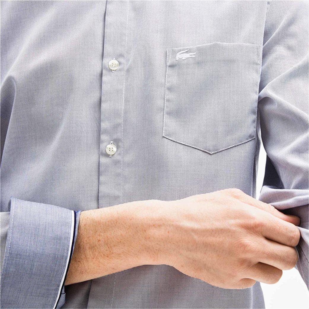 e49039d0d448 Lacoste ανδρικό πουκάμισο Texturized Poplin Regular Fit 5