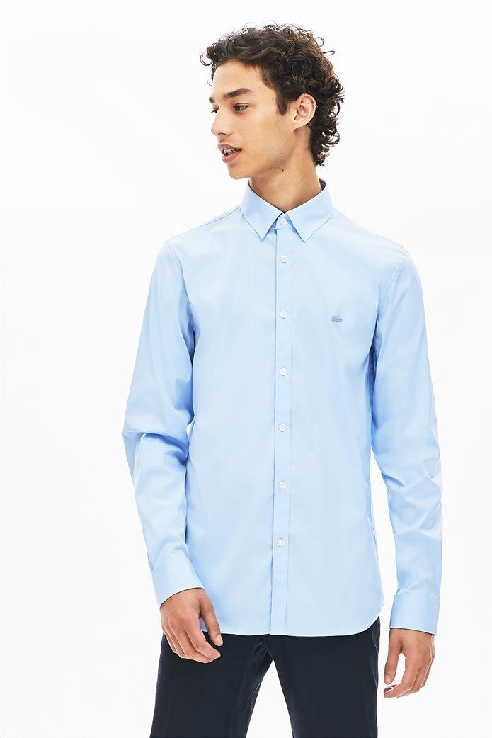 Lacoste ανδρικό μονόχρωμο πουκάμισο Slim Fit 0