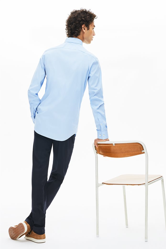 Lacoste ανδρικό μονόχρωμο πουκάμισο Slim Fit 1