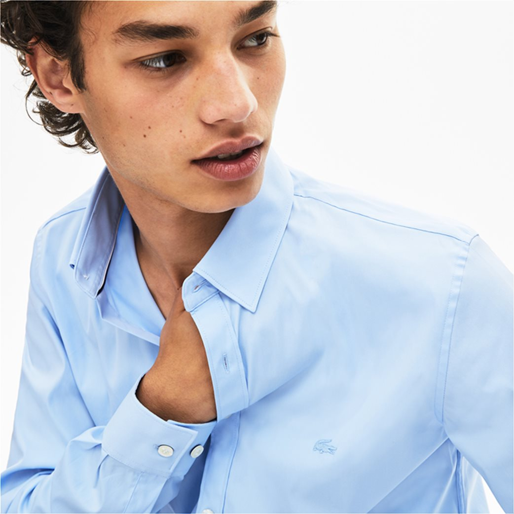 Lacoste ανδρικό μονόχρωμο πουκάμισο Slim Fit 4