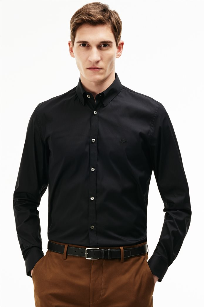 Ανδρικό μακρυμάνικο πουκάμισο slim fit poplin Lacoste 0 0873e3c42b5