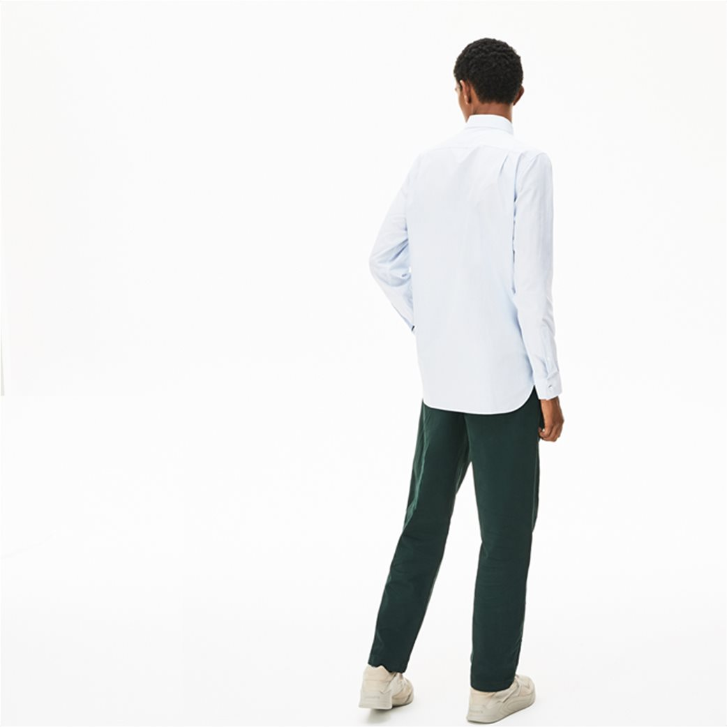 Lacoste ανδρικό ριγέ πουκάμισο με μία τσέπη με κεντημένο logo 3