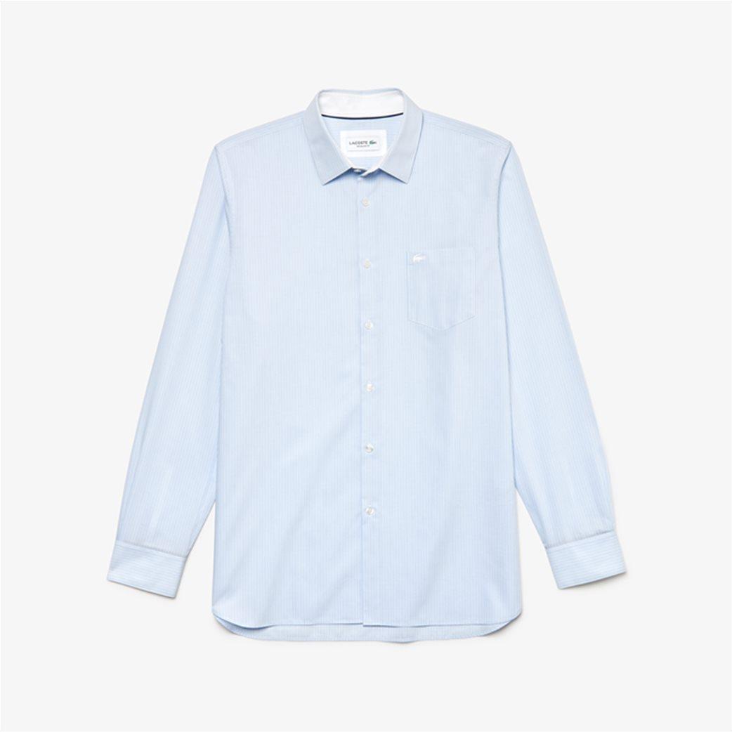 Lacoste ανδρικό ριγέ πουκάμισο με μία τσέπη με κεντημένο logo 4