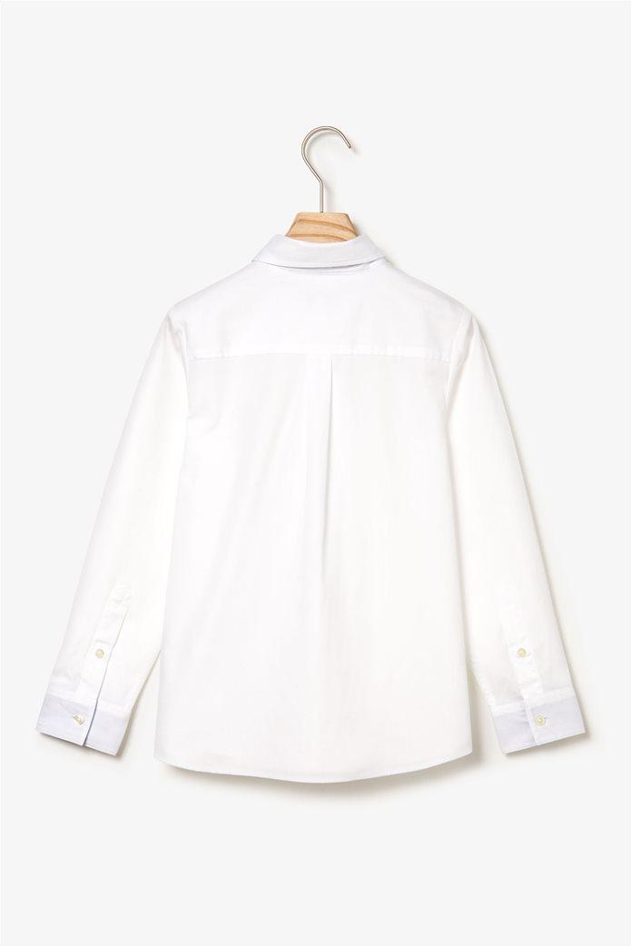 Lacoste παιδικό πουκάμισο μονόχρωμο 1