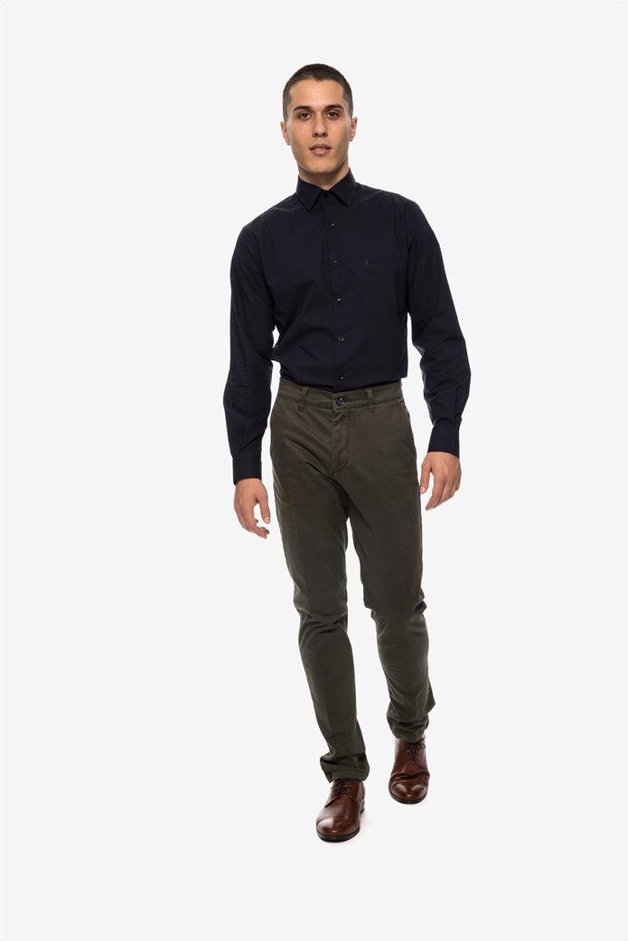 The Bostonians ανδρικό παντελόνι chino με τσέπες slim fit 1