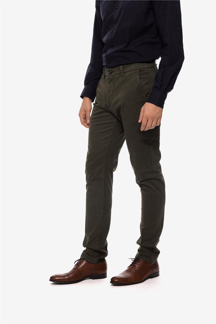 The Bostonians ανδρικό παντελόνι chino με τσέπες slim fit 2