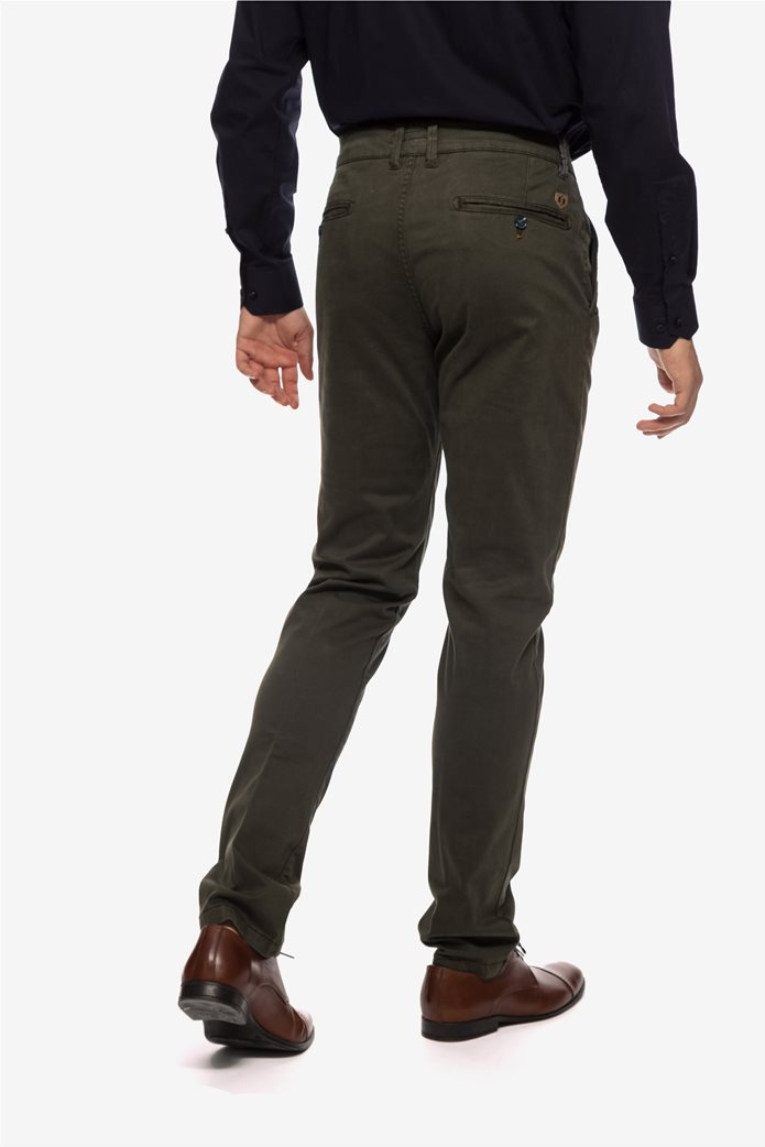 The Bostonians ανδρικό παντελόνι chino με τσέπες slim fit 3