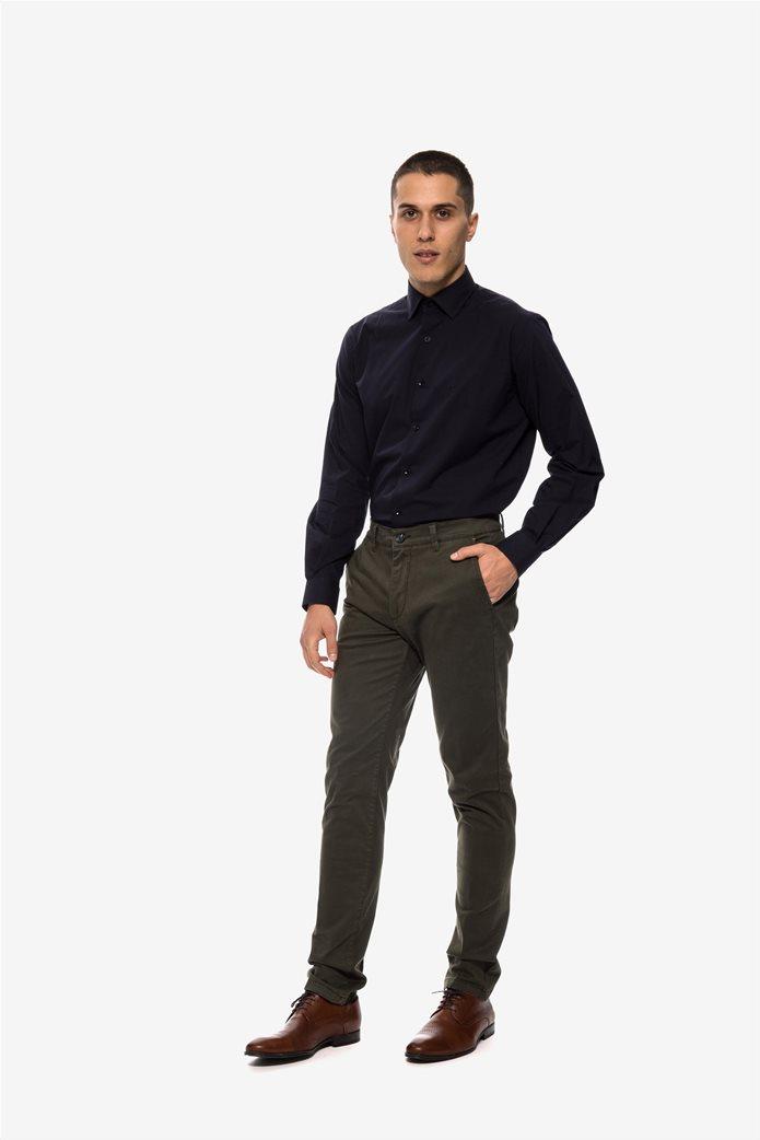 The Bostonians ανδρικό παντελόνι chino με τσέπες slim fit 5