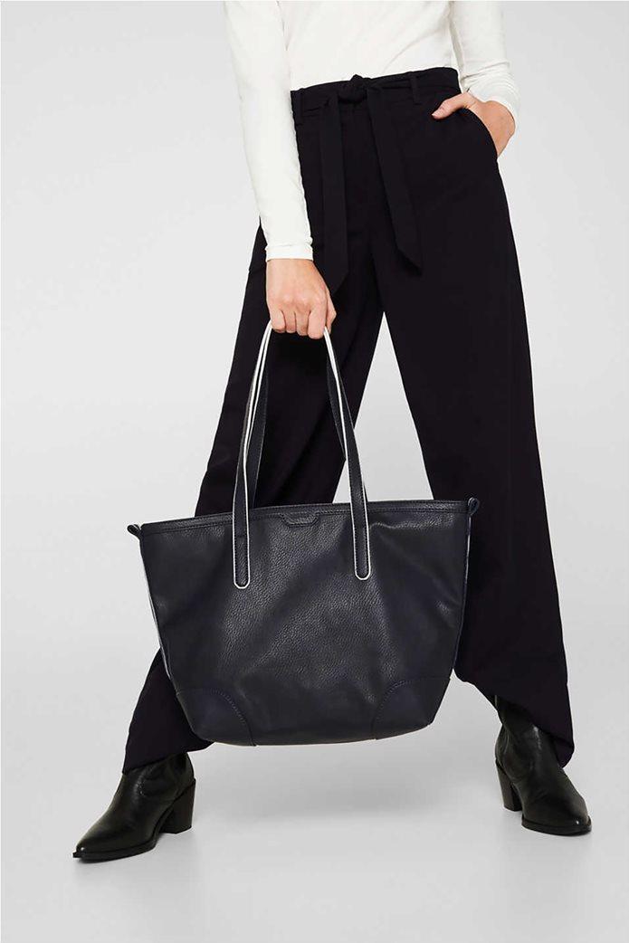 Esprit γυναικεία τσάντα ώμου ριγέ tape 1