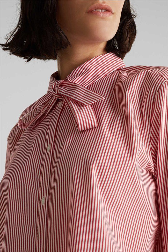 Esprit γυναικείο ριγέ πουκάμισο με φιόγκο 1