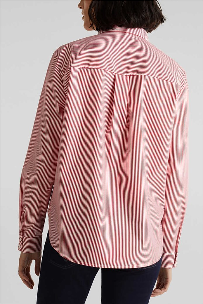 Esprit γυναικείο ριγέ πουκάμισο με φιόγκο 2