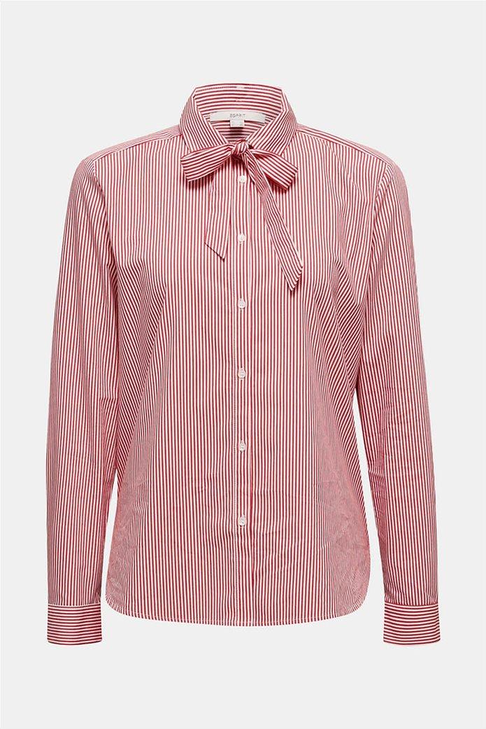 Esprit γυναικείο ριγέ πουκάμισο με φιόγκο 4