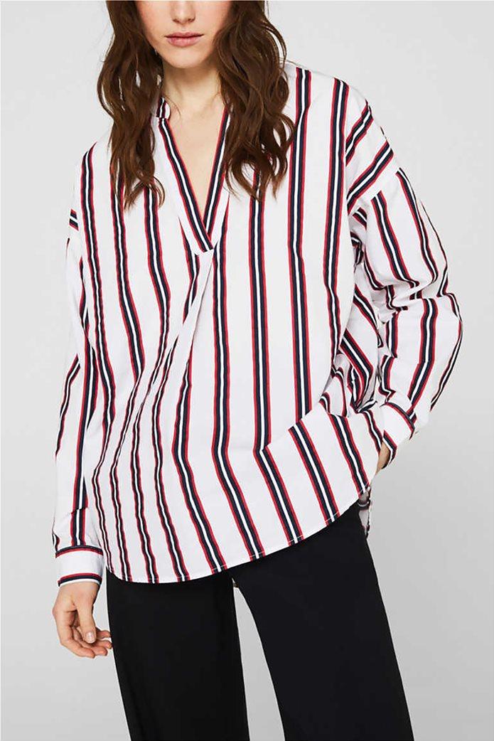 Esprit γυναικεία μπλούζα με V λαιμόκοψη 0