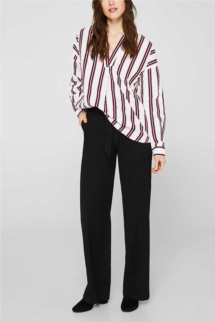 Esprit γυναικεία μπλούζα με V λαιμόκοψη 1