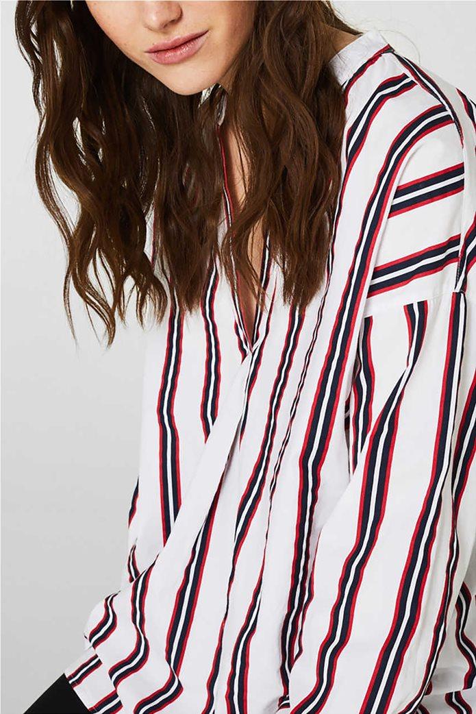 Esprit γυναικεία μπλούζα με V λαιμόκοψη 4
