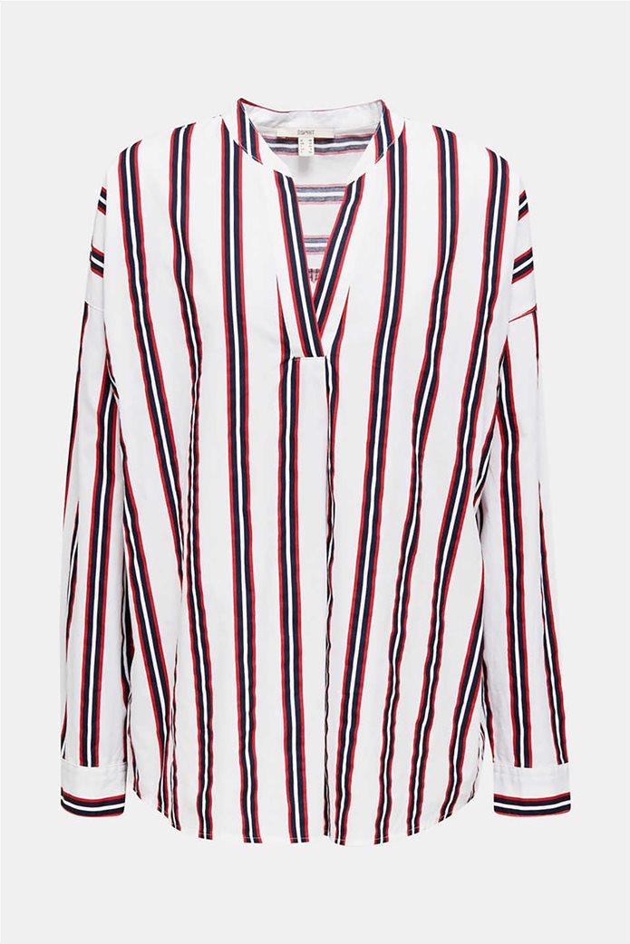 Esprit γυναικεία μπλούζα με V λαιμόκοψη 5