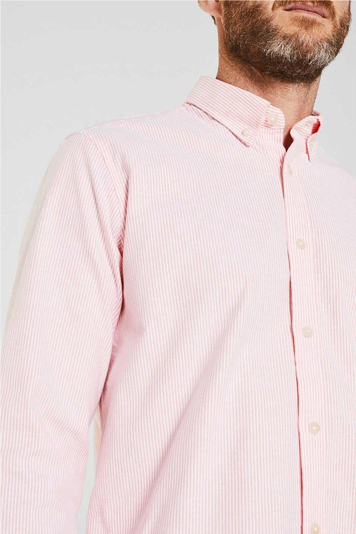Esprit ανδρικό ριγέ πουκάμισο με button-down γιακά Oxrford 1