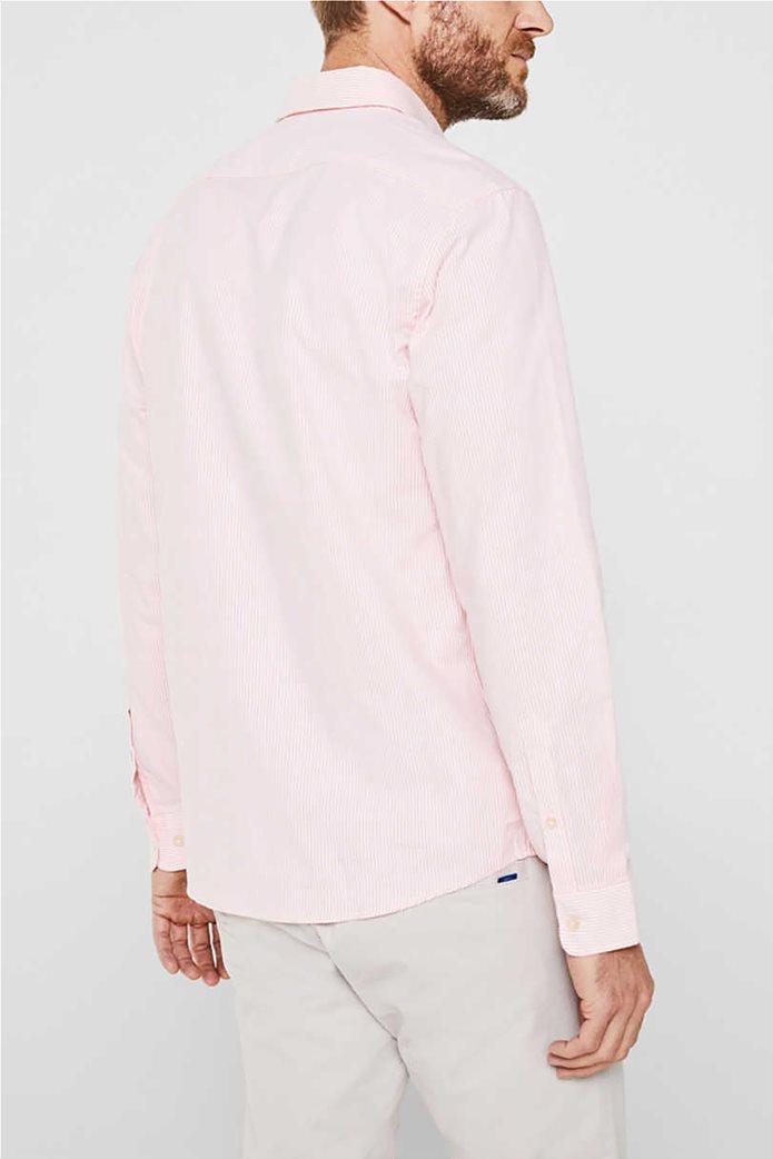 Esprit ανδρικό ριγέ πουκάμισο με button-down γιακά Oxrford 2