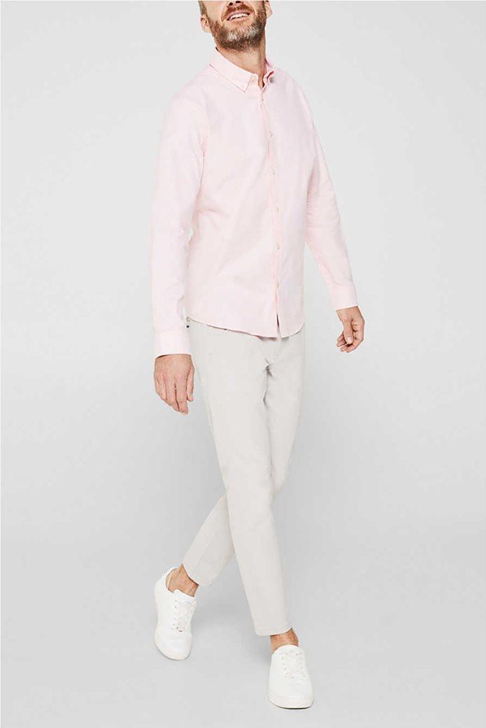 Esprit ανδρικό ριγέ πουκάμισο με button-down γιακά Oxrford 3