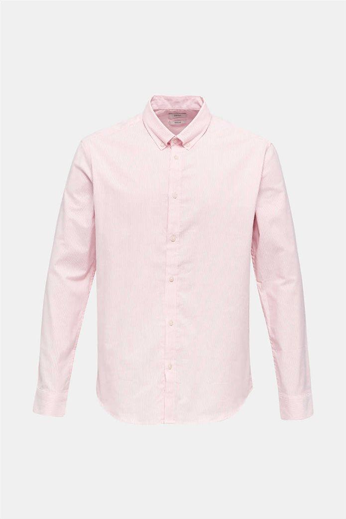 Esprit ανδρικό ριγέ πουκάμισο με button-down γιακά Oxrford 4