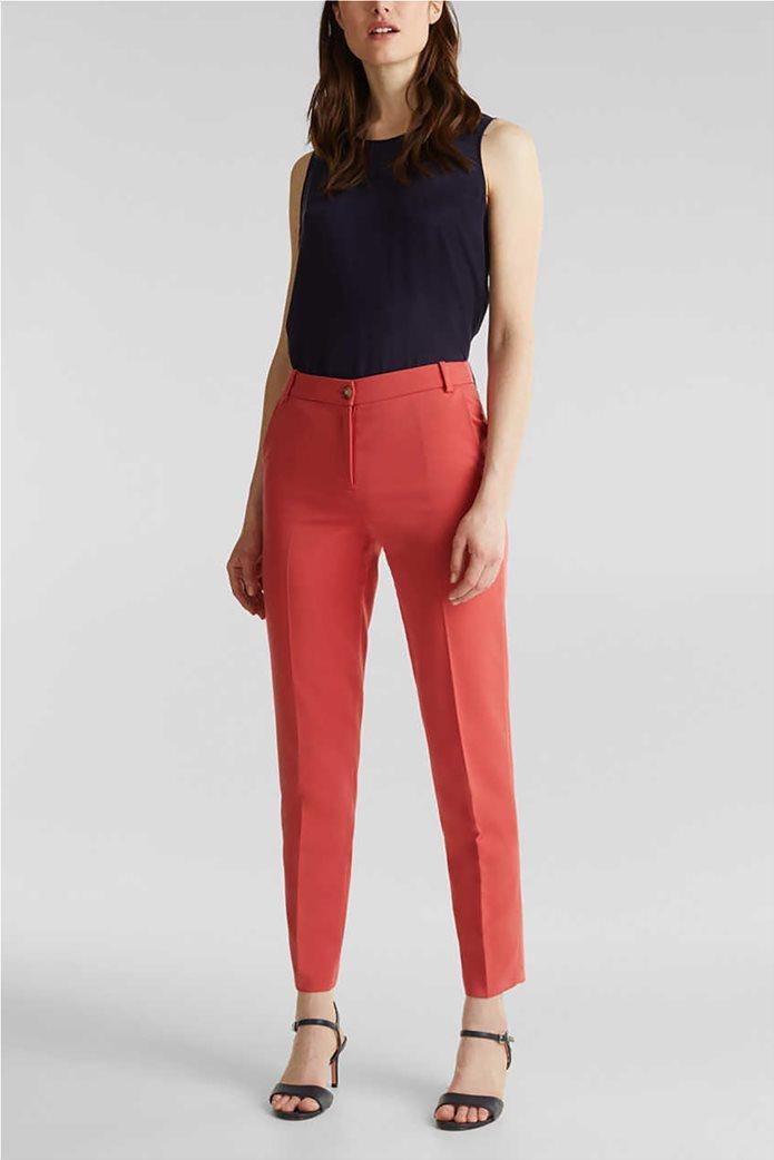 Esprit γυναικείο παντελόνι cropped με πιέτες 0