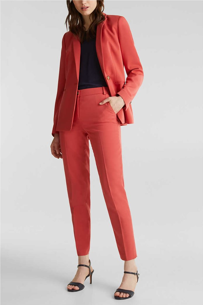 Esprit γυναικείο παντελόνι cropped με πιέτες 1