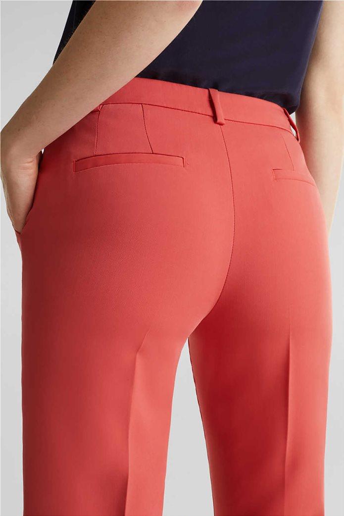 Esprit γυναικείο παντελόνι cropped με πιέτες 2