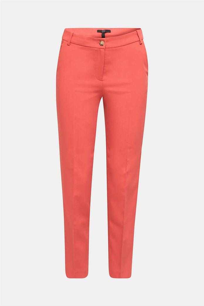 Esprit γυναικείο παντελόνι cropped με πιέτες 4