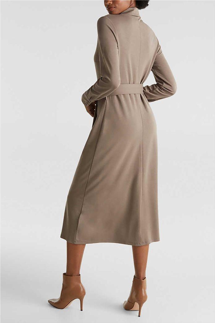 Esprit γυναικείο midi ελαστικό σεμιζιέ φόρεμα 2