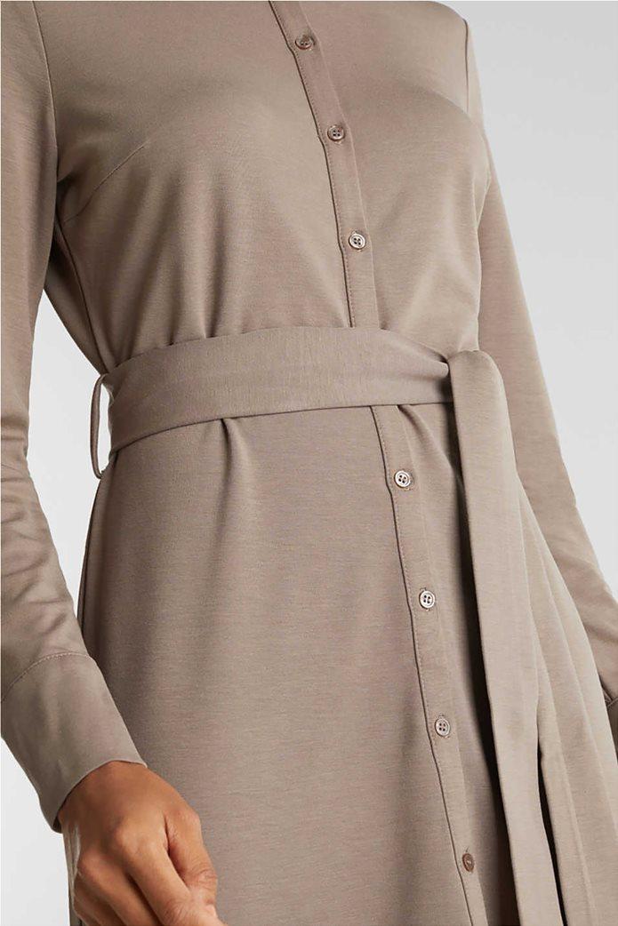 Esprit γυναικείο midi ελαστικό σεμιζιέ φόρεμα 4