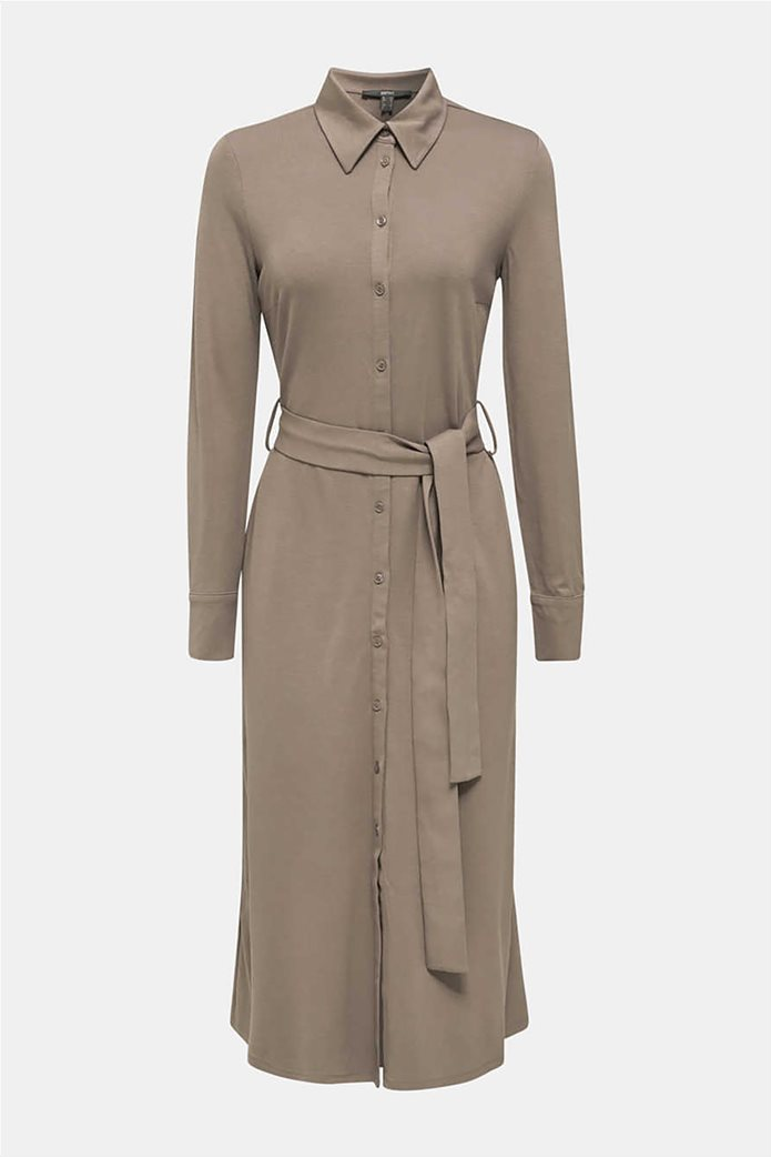 Esprit γυναικείο midi ελαστικό σεμιζιέ φόρεμα 5