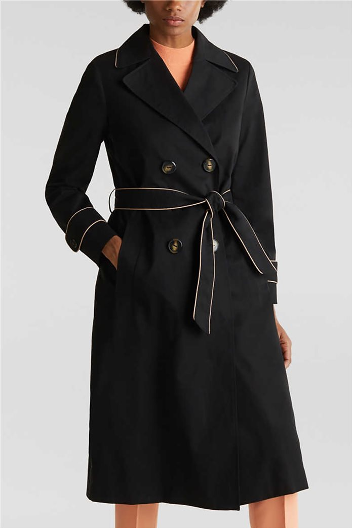 Esprit γυναικείο midi παλτό με ζώνη 0