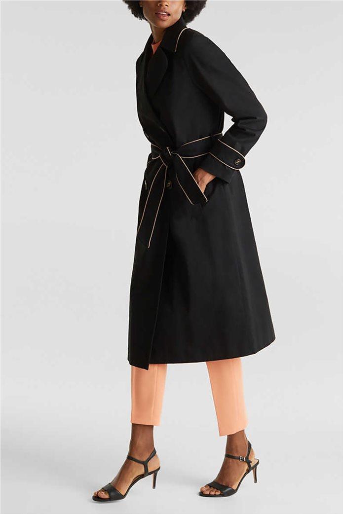 Esprit γυναικείο midi παλτό με ζώνη 1