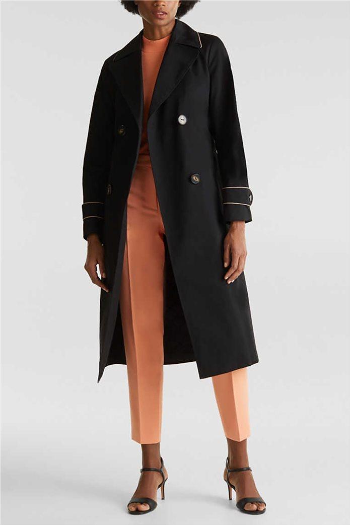 Esprit γυναικείο midi παλτό με ζώνη 2