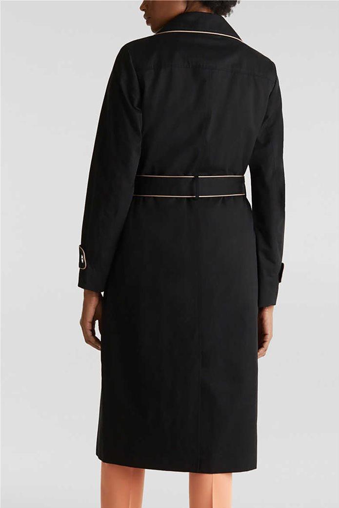 Esprit γυναικείο midi παλτό με ζώνη 3