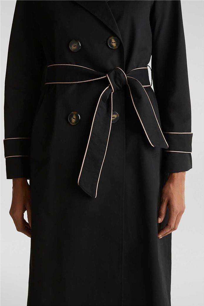 Esprit γυναικείο midi παλτό με ζώνη 4