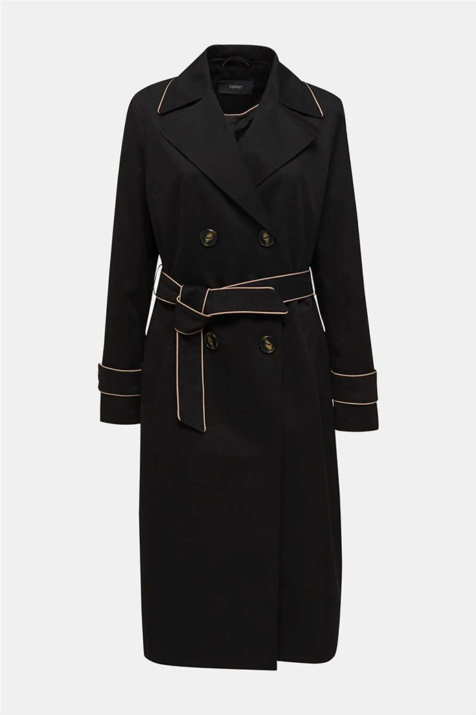 Esprit γυναικείο midi παλτό με ζώνη 6