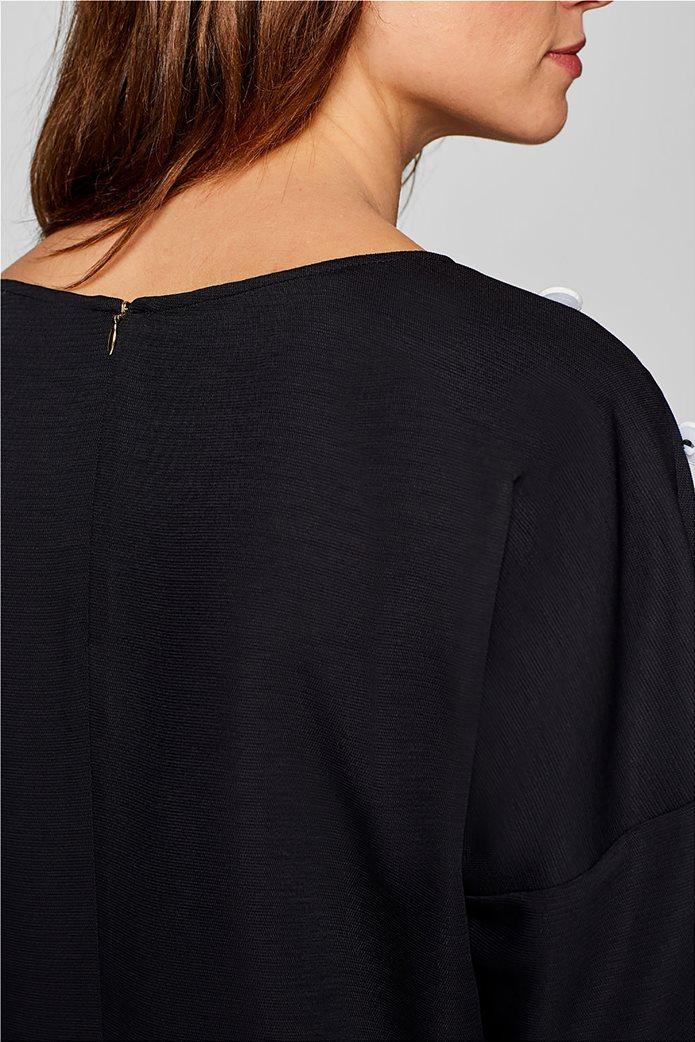 Esprit γυναικεία μπλούζα με κουμπιά στους ώμους 5