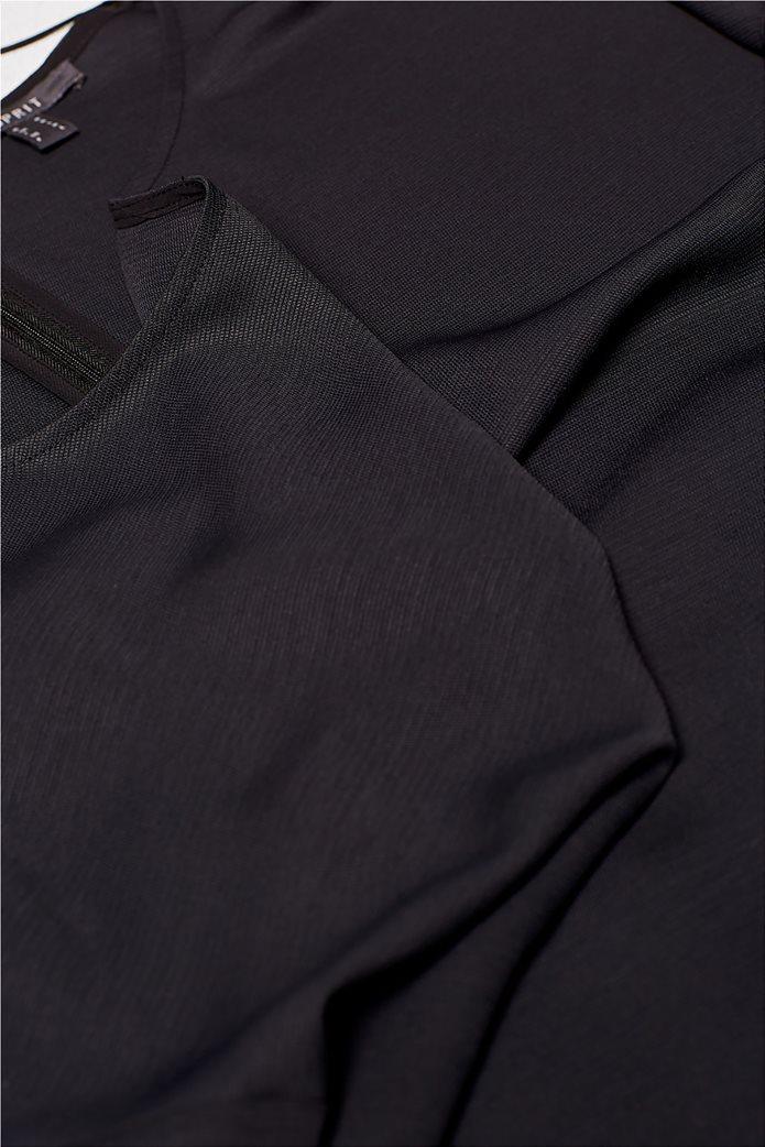 Esprit γυναικεία μπλούζα με κουμπιά στους ώμους 6