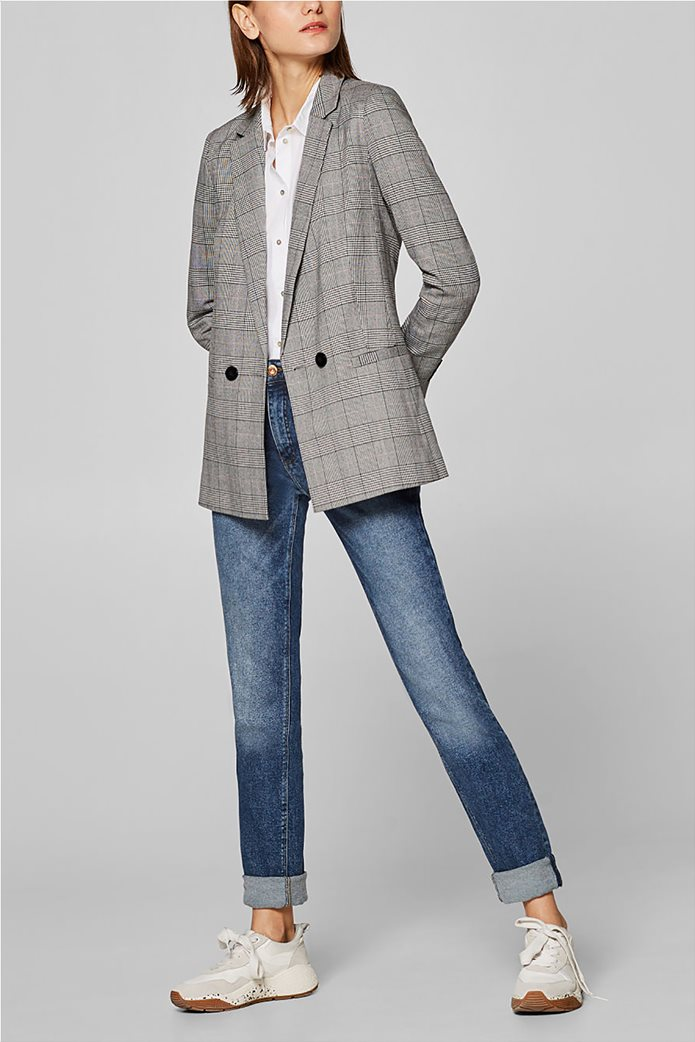 Esprit γυναικείo σακάκι με καρό print 0