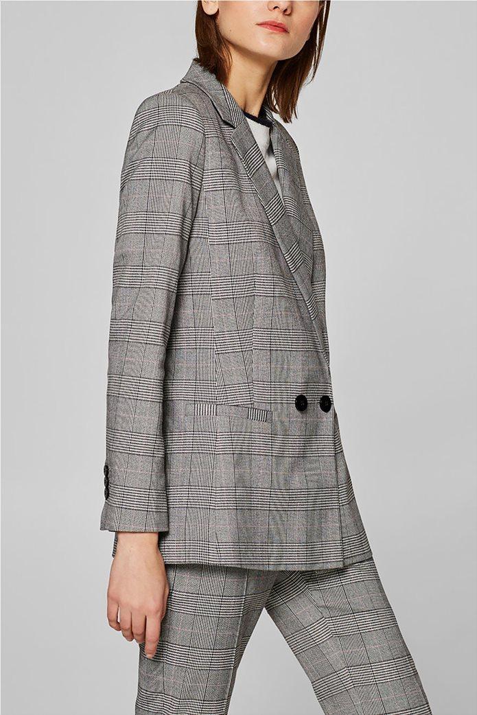 Esprit γυναικείo σακάκι με καρό print 1
