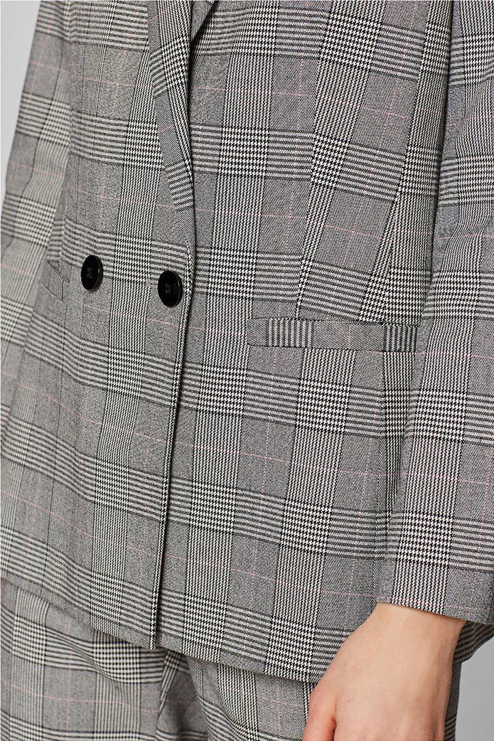 Esprit γυναικείo σακάκι με καρό print 4