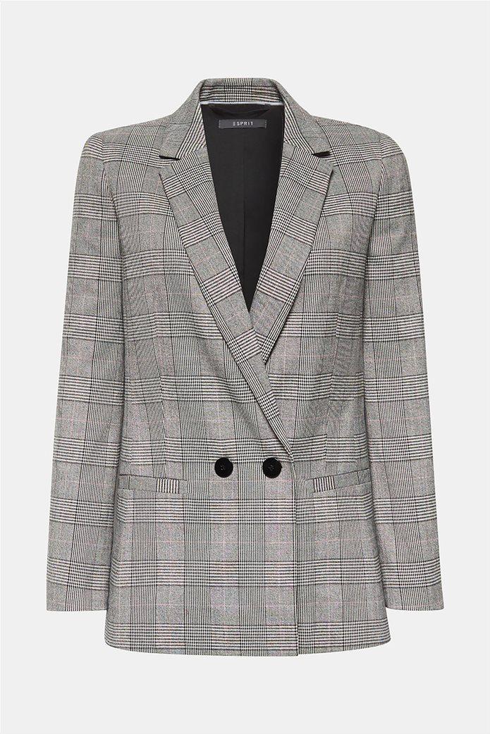 Esprit γυναικείo σακάκι με καρό print 6