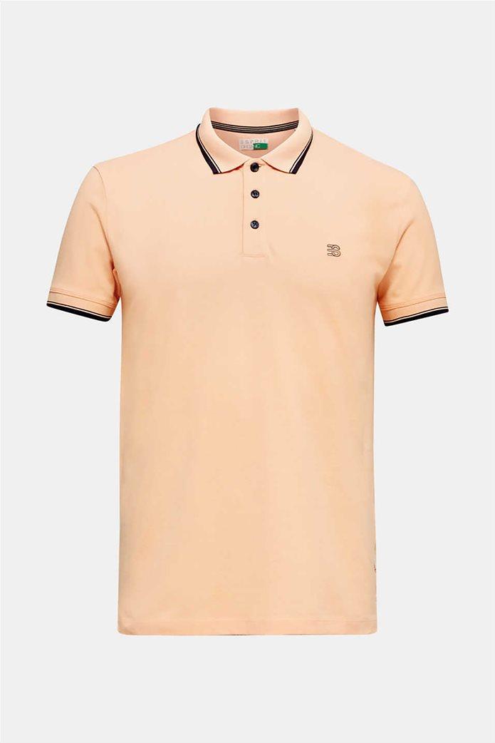 Esprit ανδρική polo μπλούζα με κεντημένο λογότυπο 3