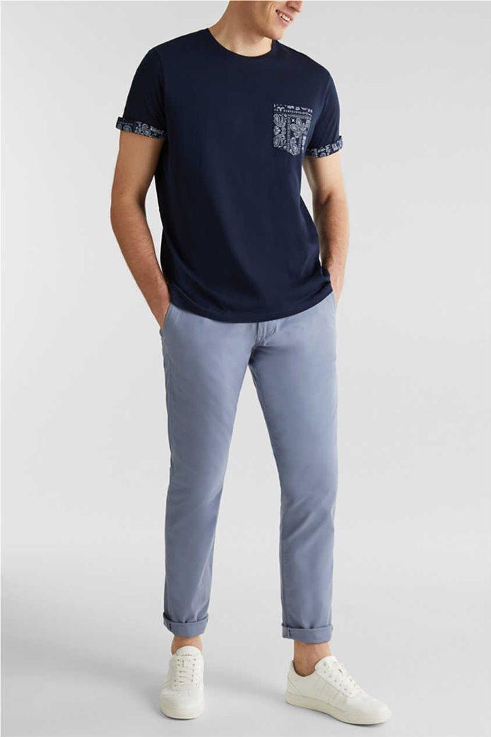 Esprit ανδρικό T-shirt με μία τσέπη με print λαχούρια 2