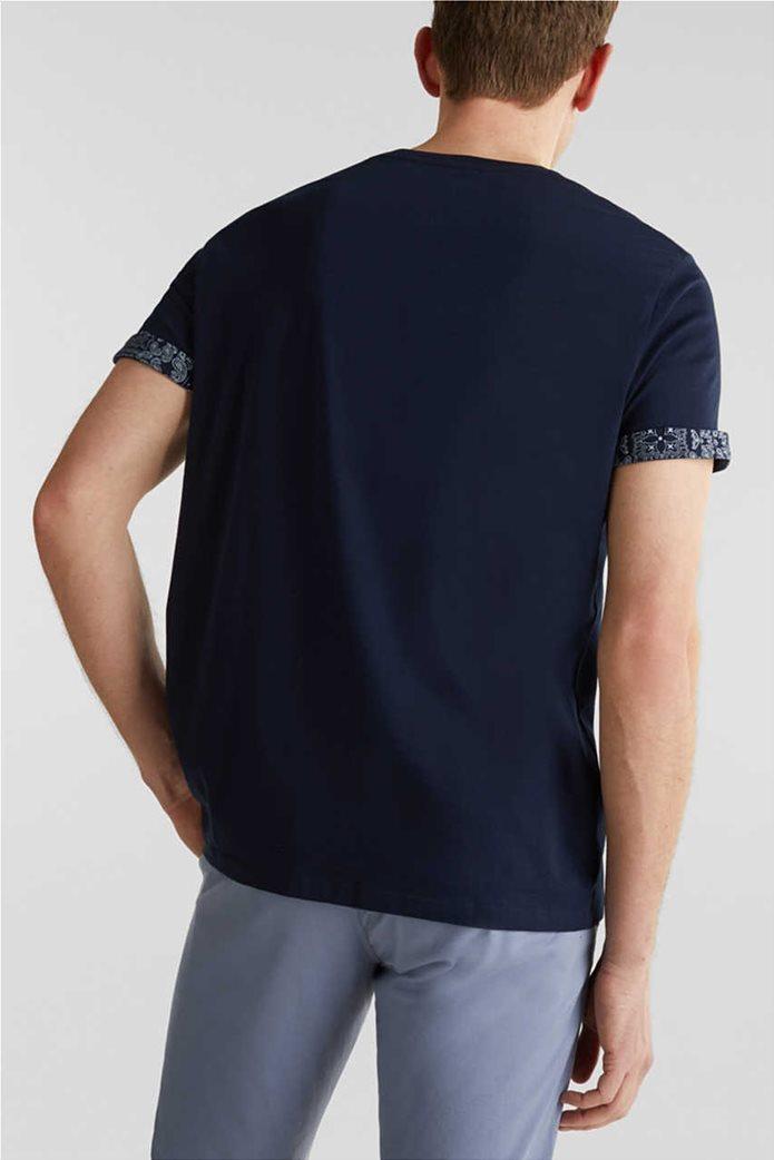 Esprit ανδρικό T-shirt με μία τσέπη με print λαχούρια 3