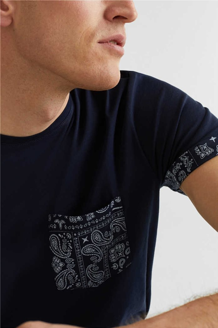 Esprit ανδρικό T-shirt με μία τσέπη με print λαχούρια 4