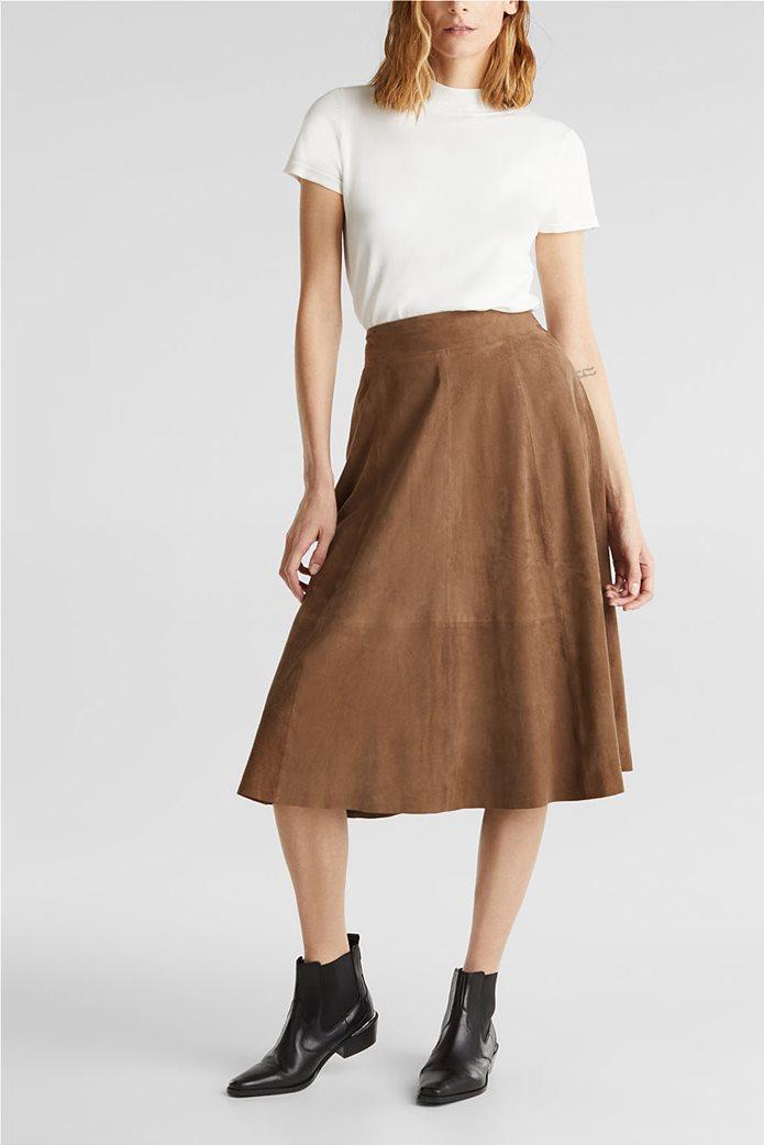 Esprit γυναικείο πλεκτό μονόχρωμο μπλουζάκι 0