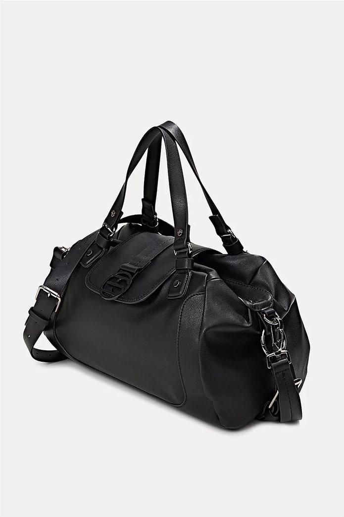 Esprit γυναικεία τσάντα ώμου με μεταλλικό λογότυπο και διακοσμητικές αγκράφες Μαυρο 2